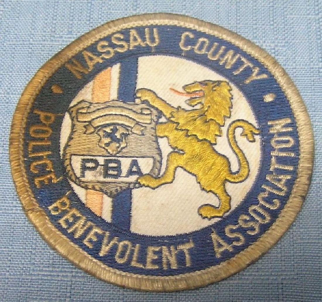 Vintage Nassau County policeman's Assoc. patch