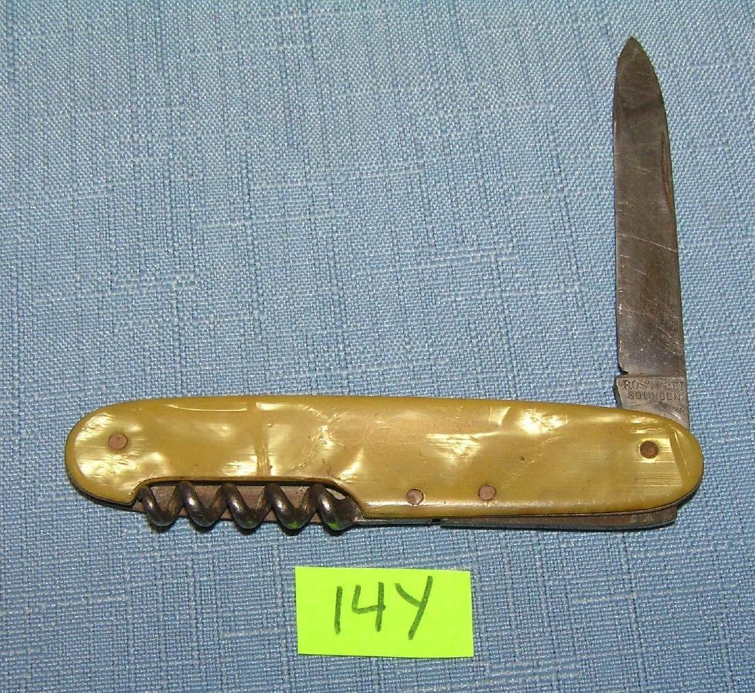 Vintage pocket knife and cork screw