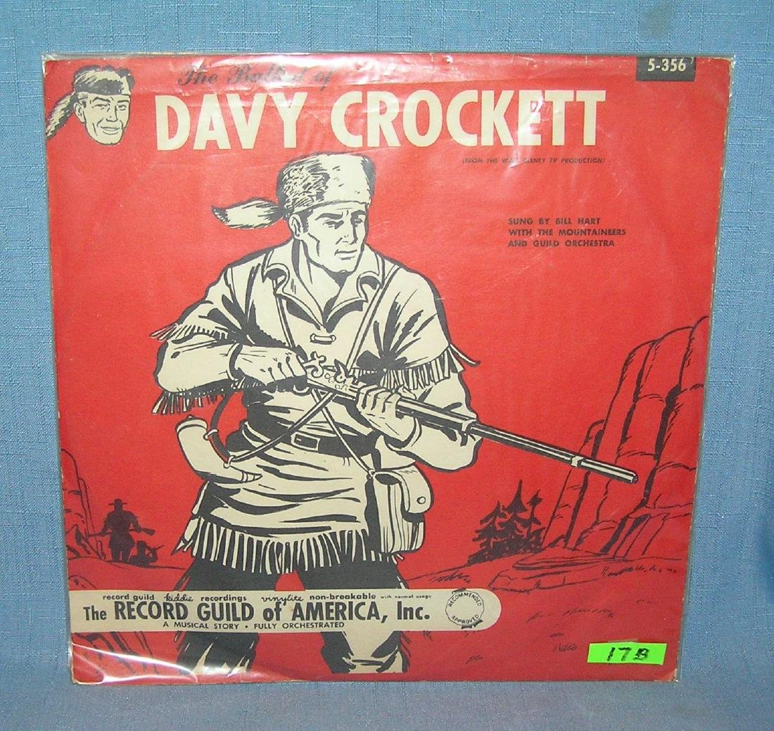 The Battle of Davy Crocket vintage record