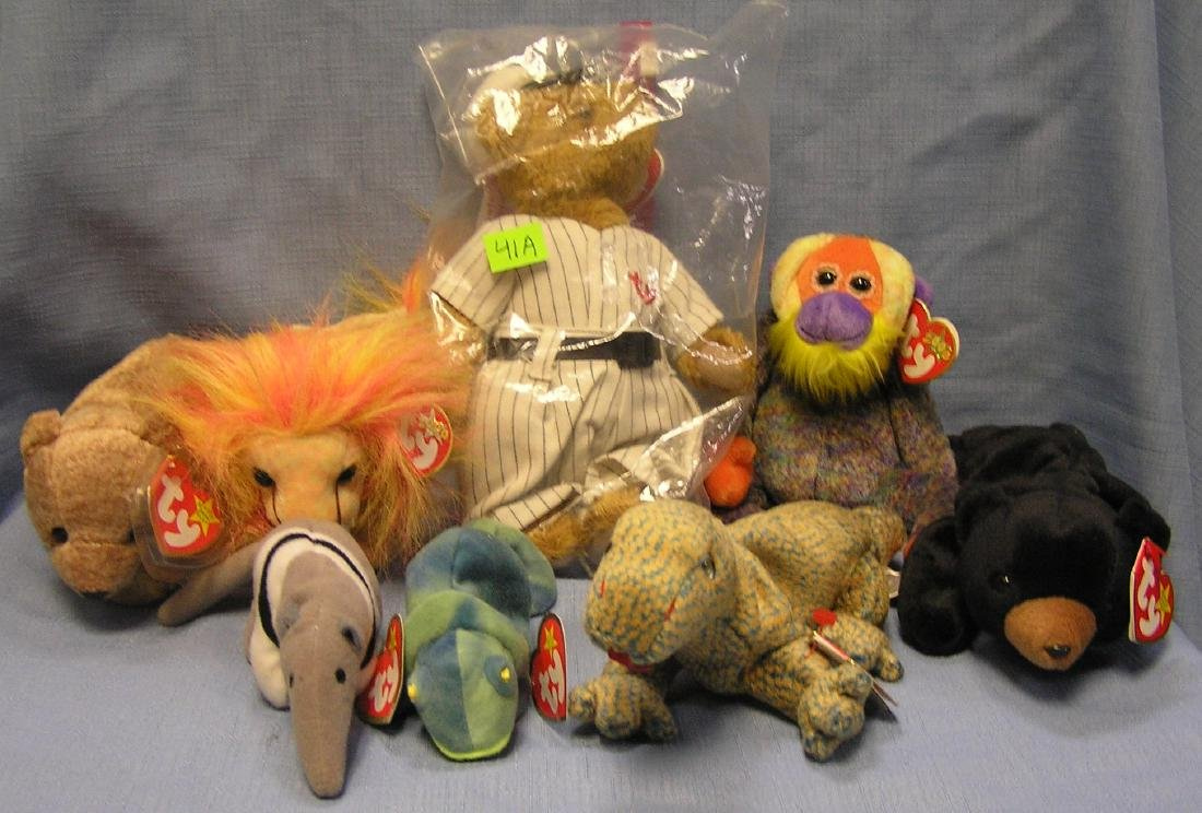 Collection of vintage beanie babies
