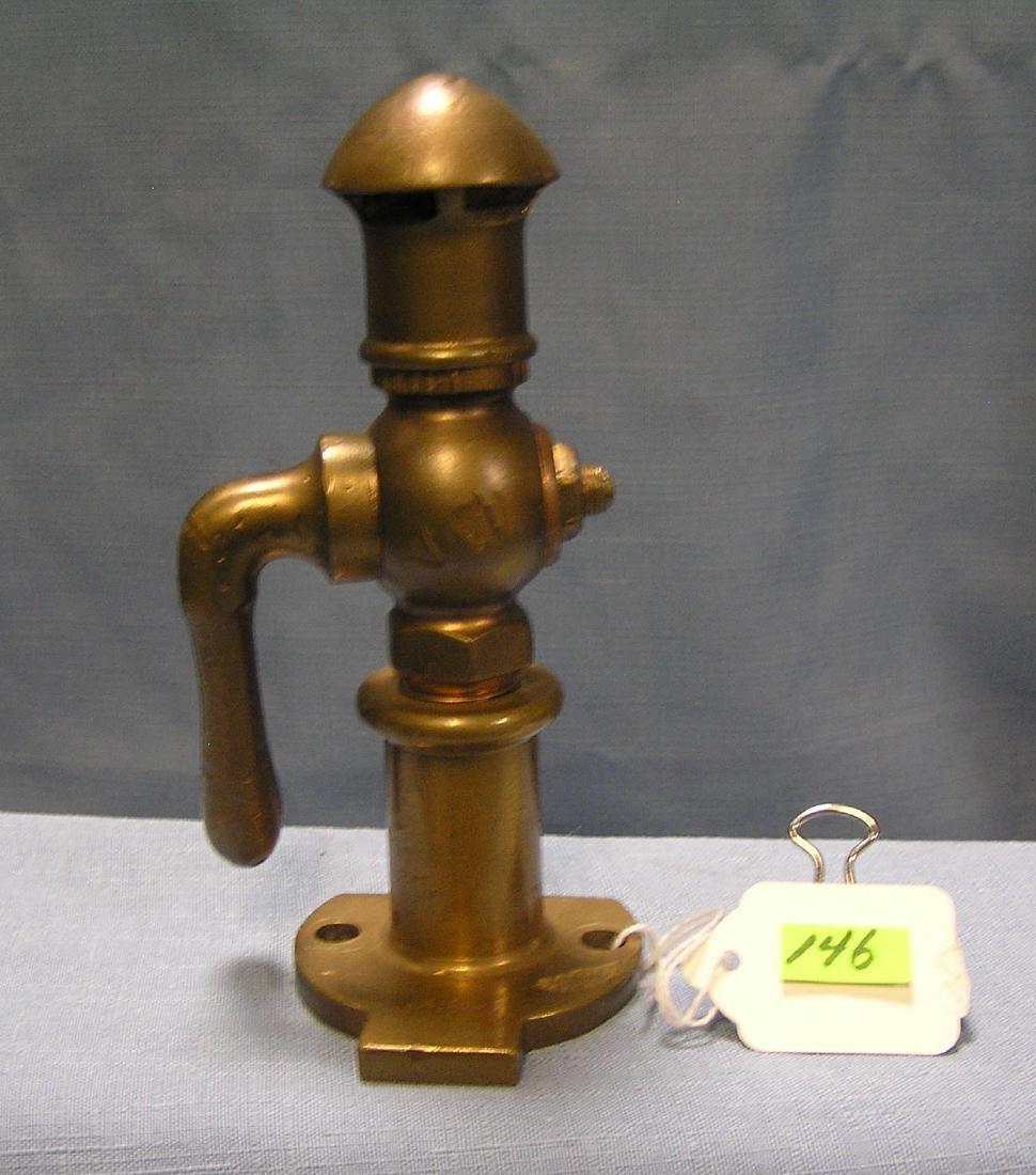 Solid brass steam whistle