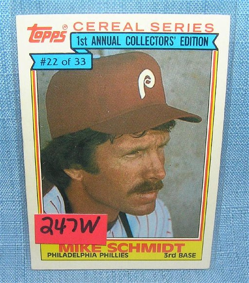Mike Schmidt Baseball Card Jul 29 2018 Bakers Antiques