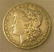 1889-O Morgan silver dollar in very good condition
