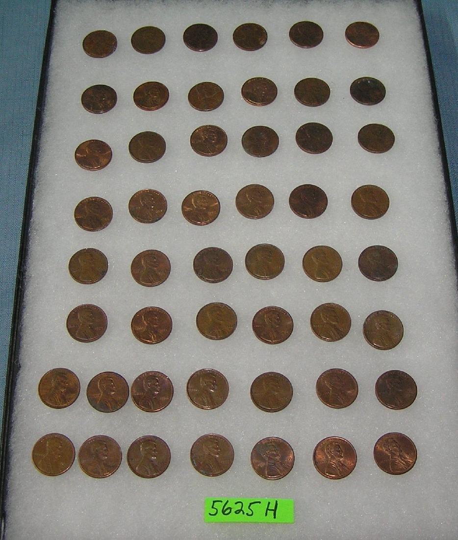 Vintage Lincoln memorial copper pennies