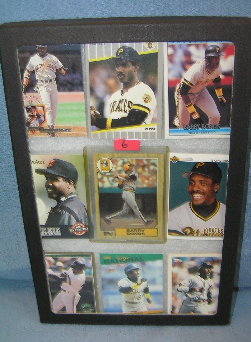 Barry Bonds all star baseball cards with rookie card