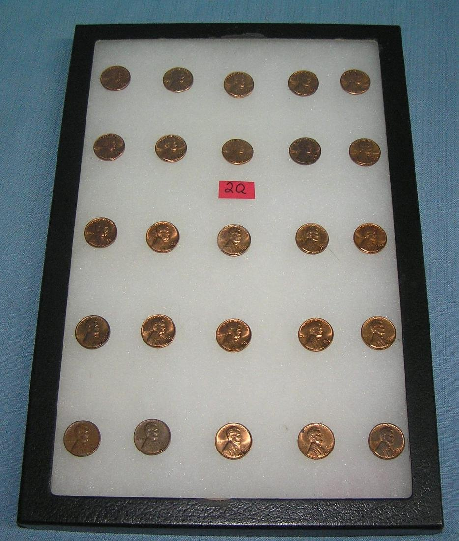 Group of vintage Lincoln copper pennies