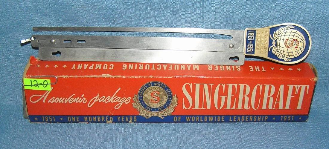 Singer sewing machine 100th anniversary souvenir