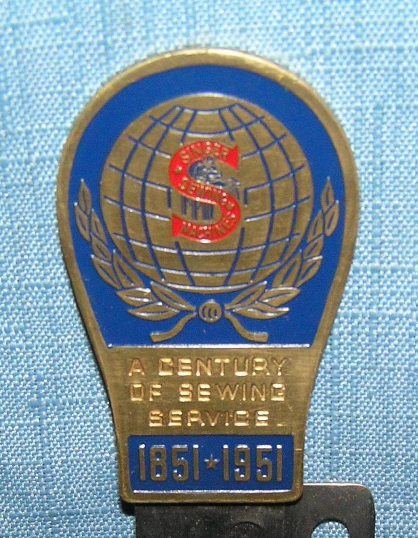 Singer sewing machine 100th anniversary souvenir - 2