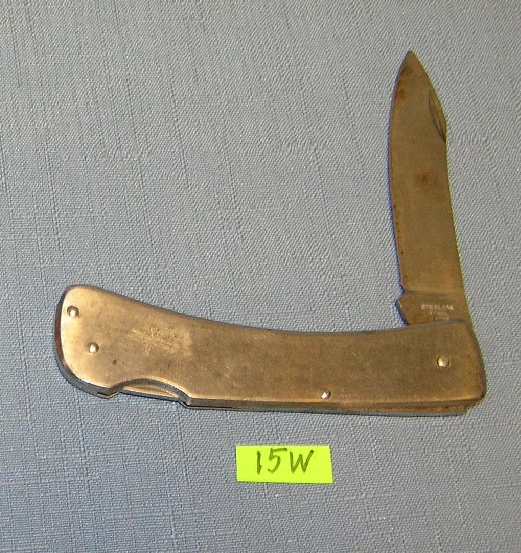 Stainless steel single bladed gentleman's pocket knife