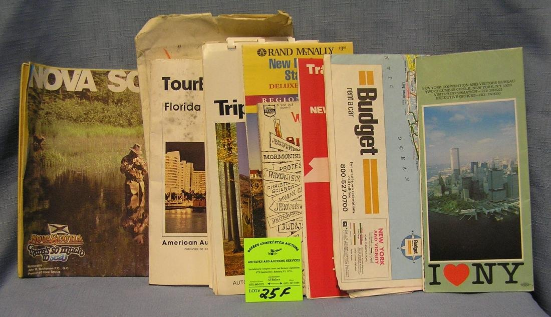 Group of Vintage travel maps and booklets