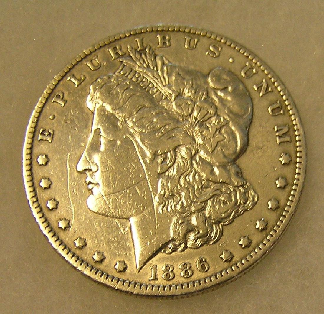 1886-O Morgan silver dollar in very good plus condition