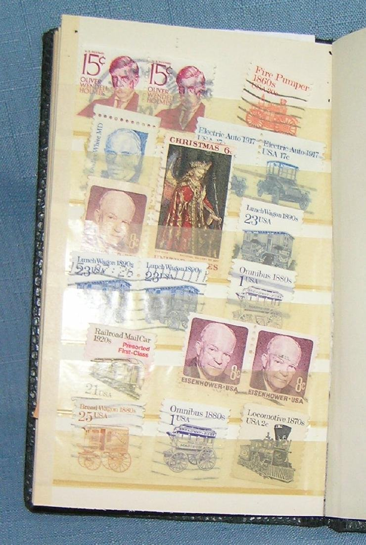 Stamp collector's stock book full of vintage stamps - 4