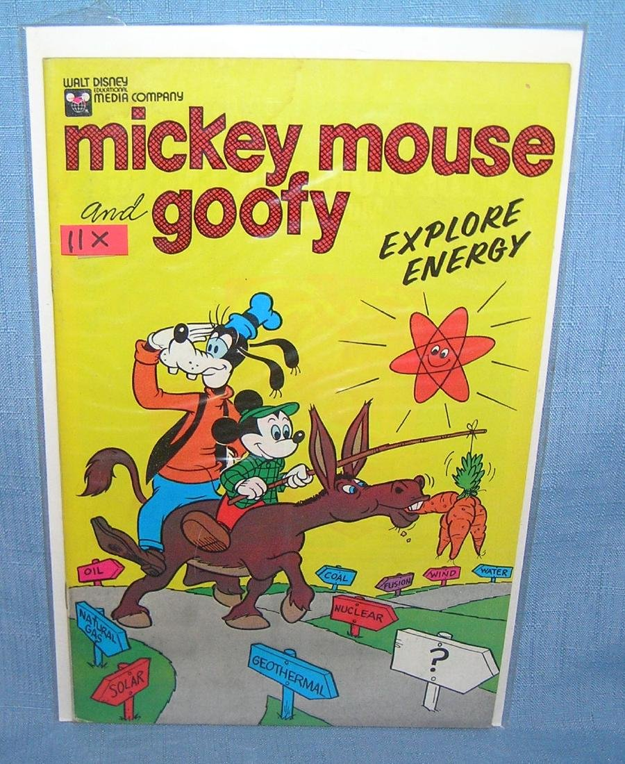 Early Mickey Mouse and Goofy comic book