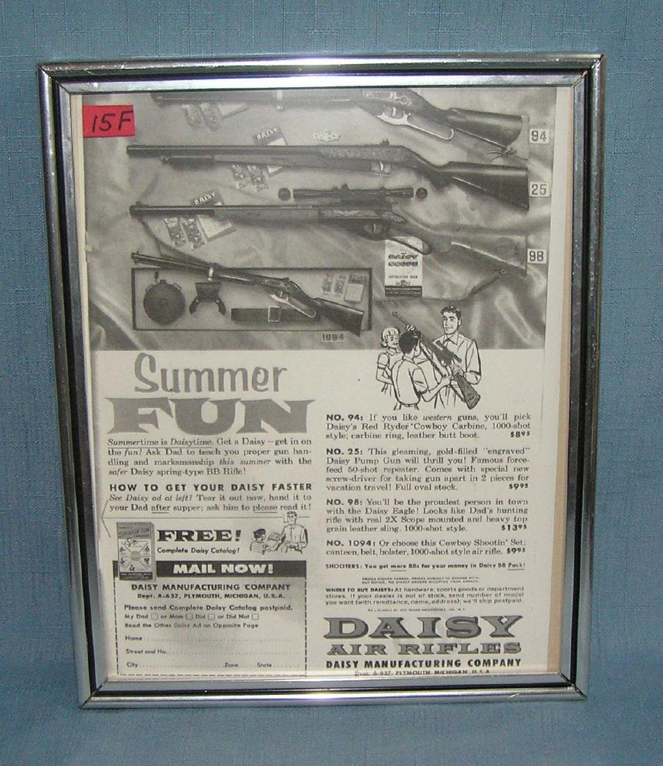 Daisy air rifles advertising display