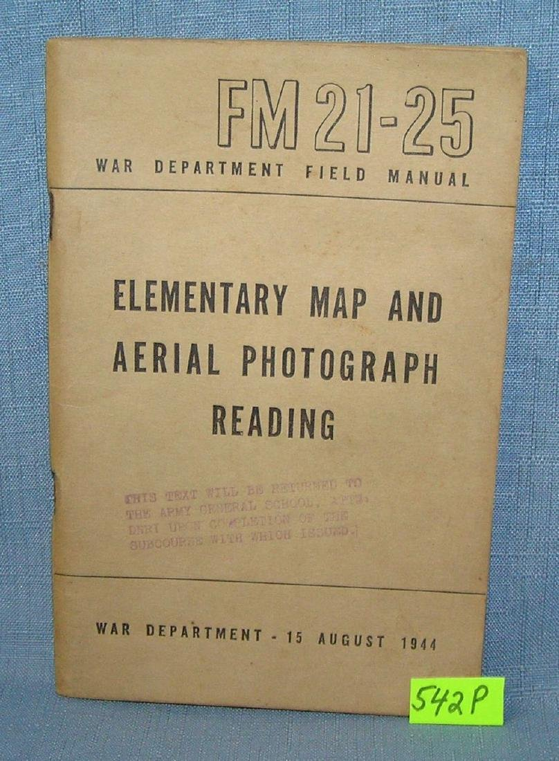 WWII elementary map and ariel photograph book
