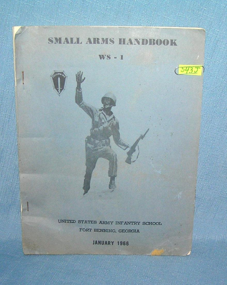 Small arms handbook US Army infantry school 1966