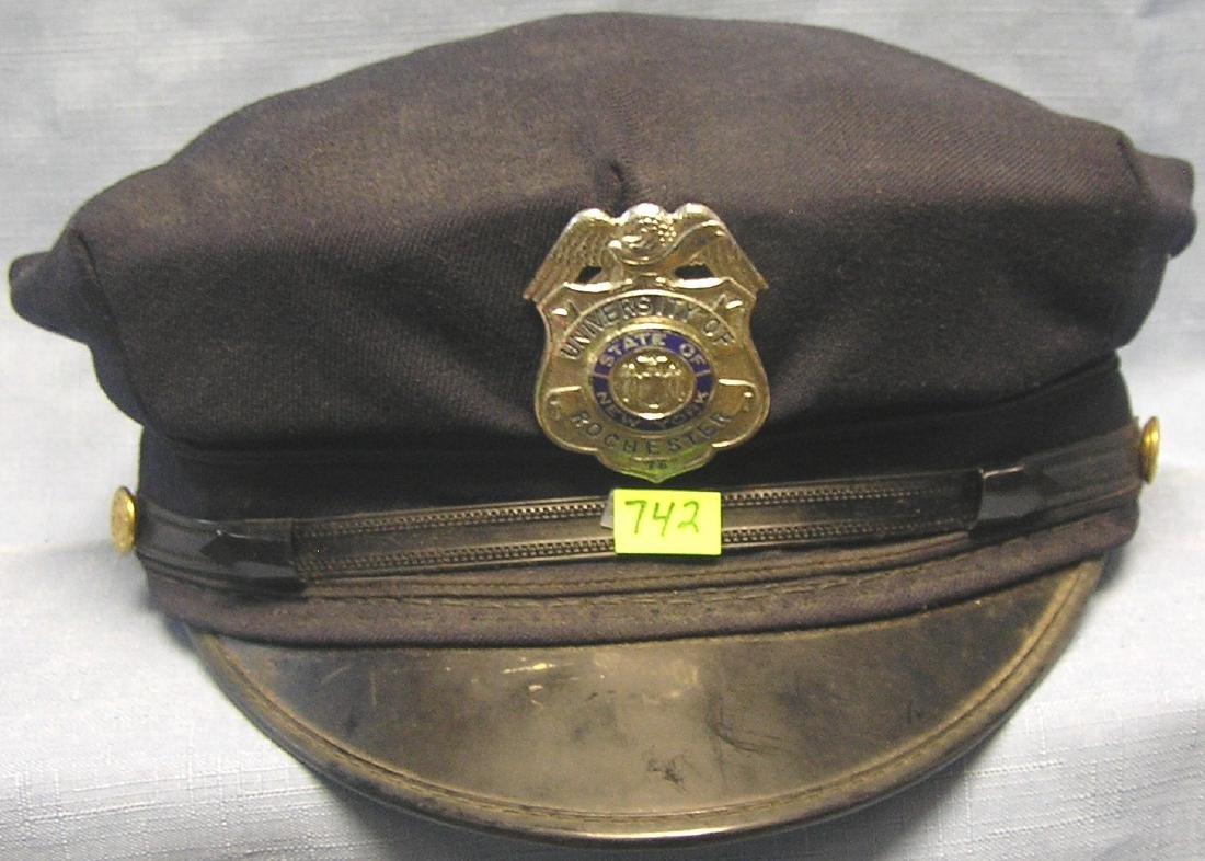 University of Rochester Fire chief hat and badge