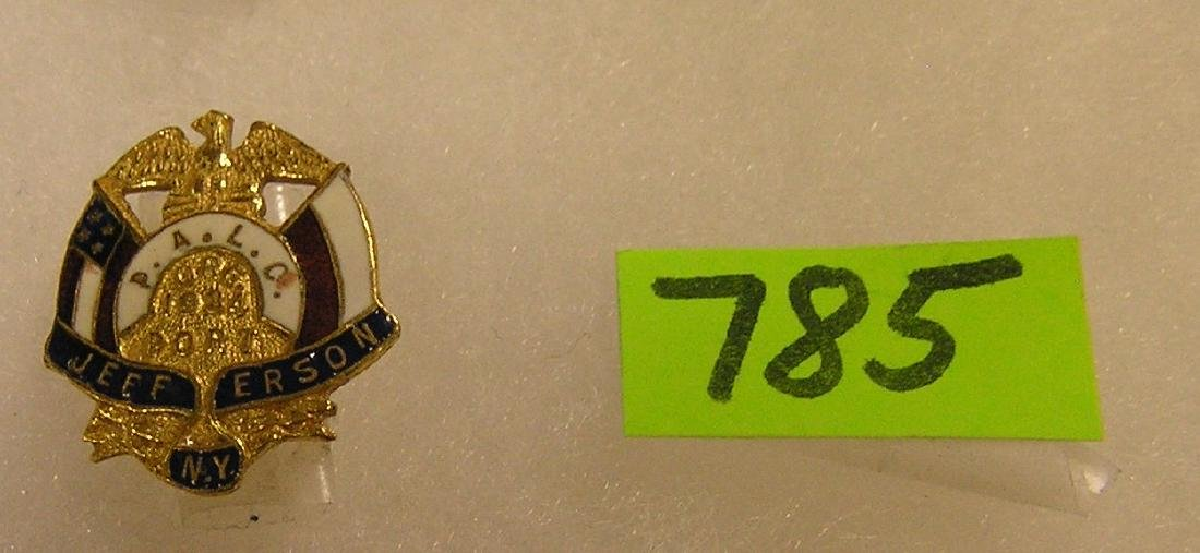 Vintage gold filled and enameled police pin