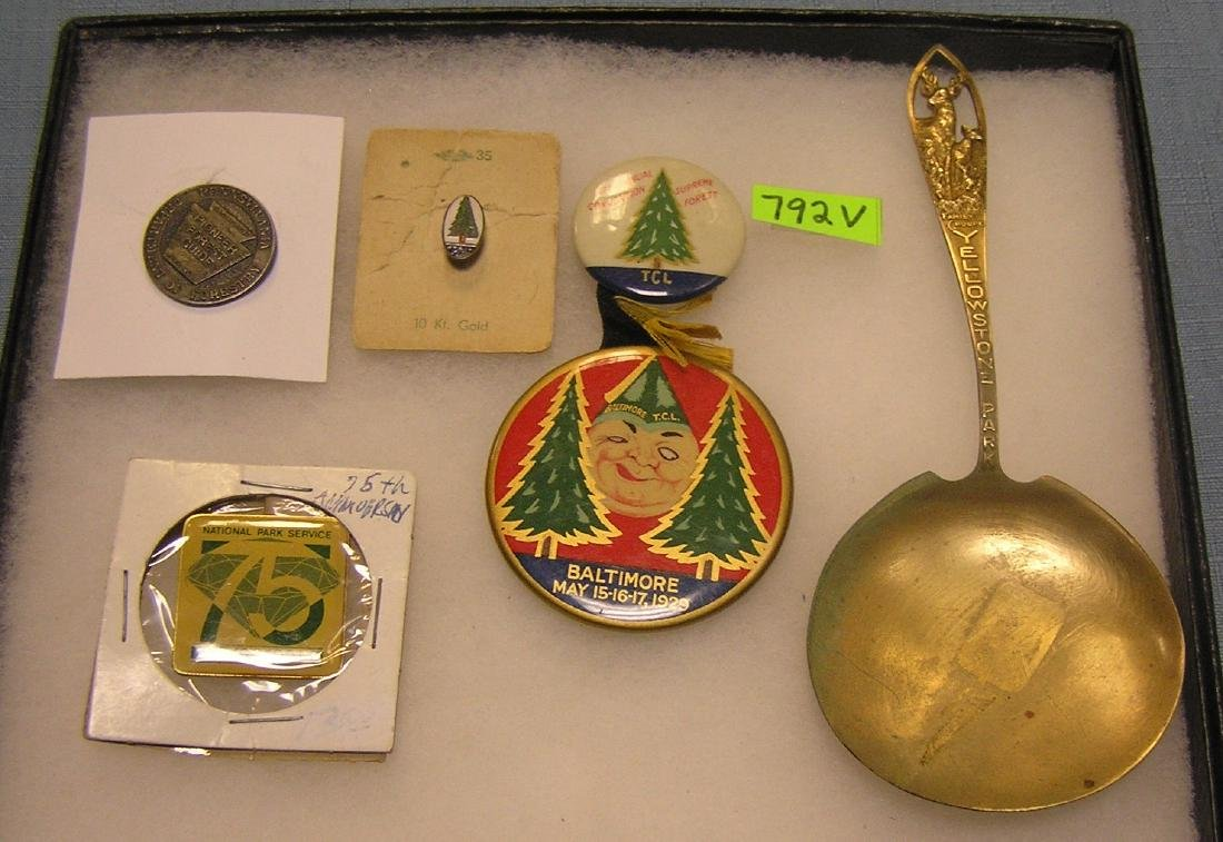 Group of early forestry collectibles