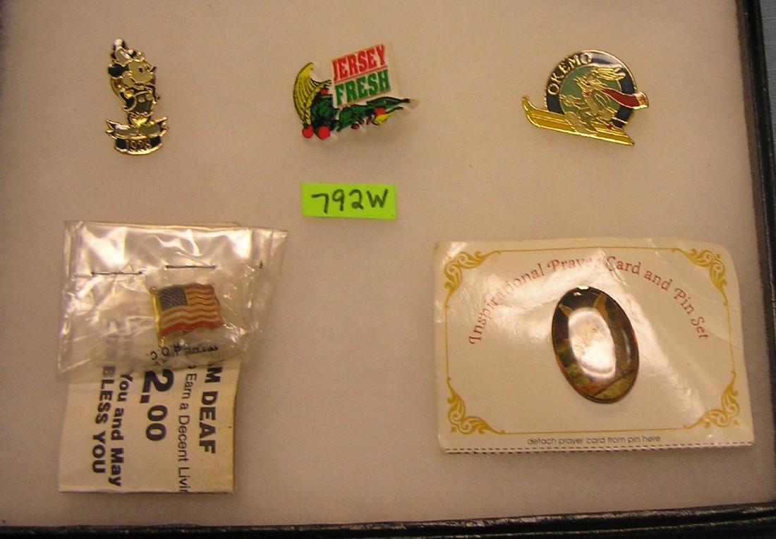 Group of pins: Disney, Warner Bros. and more