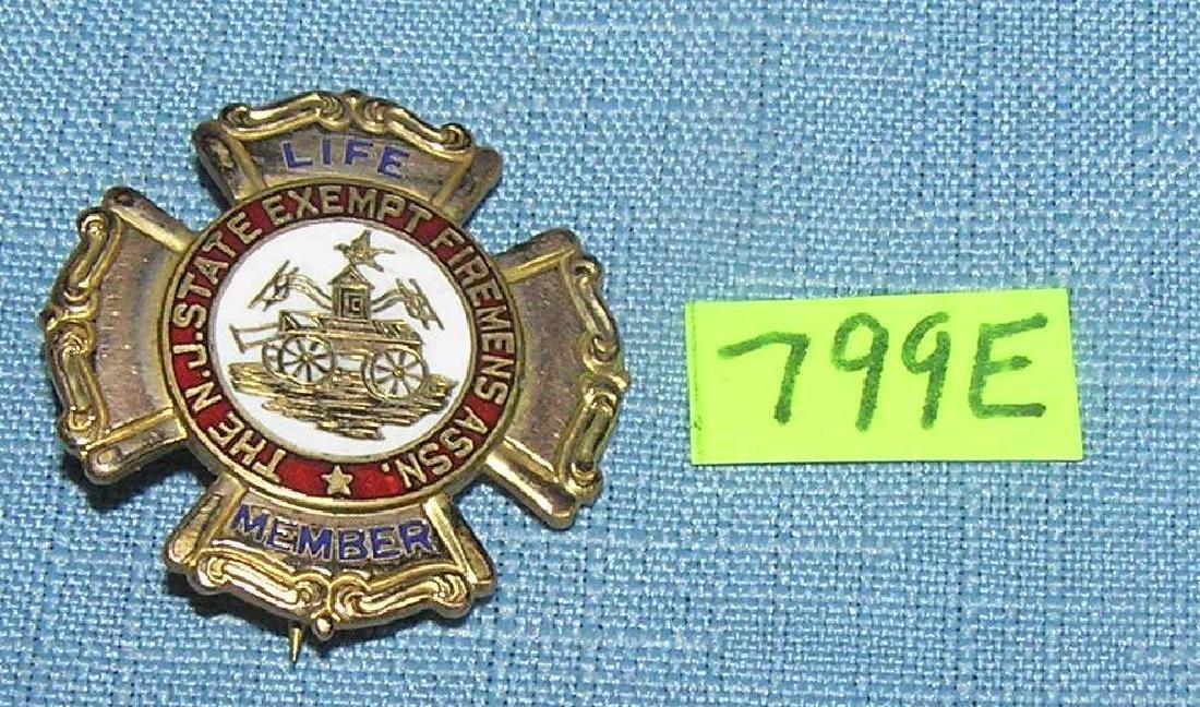 Fireman's life membership badge