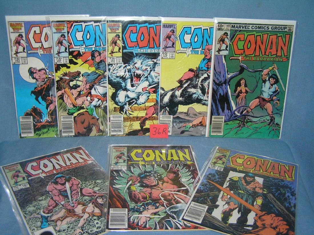 Group of vintage Marvel Conan the Barbarian comic books