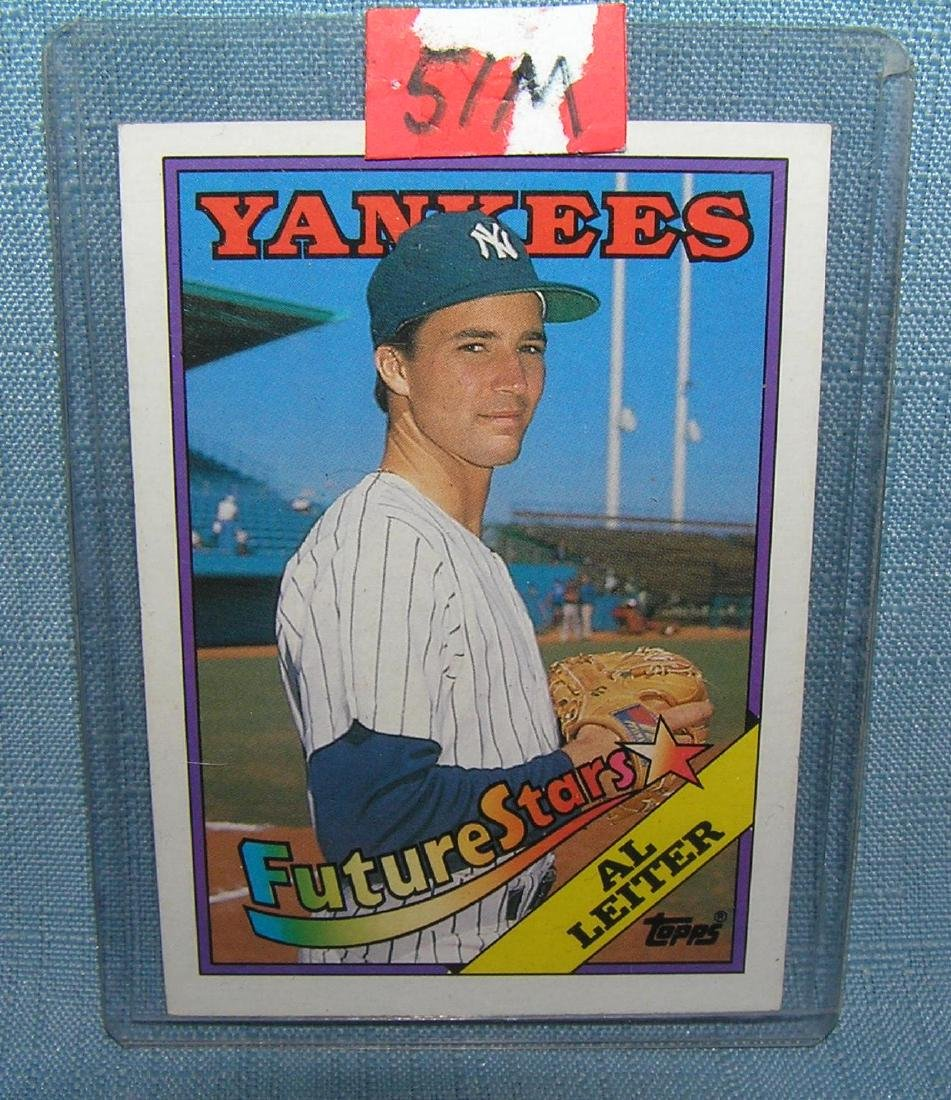 AL Leiter rookie baseball card