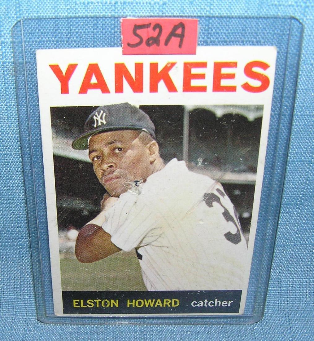 Vintage Elston Howard NY Yankees baseball card