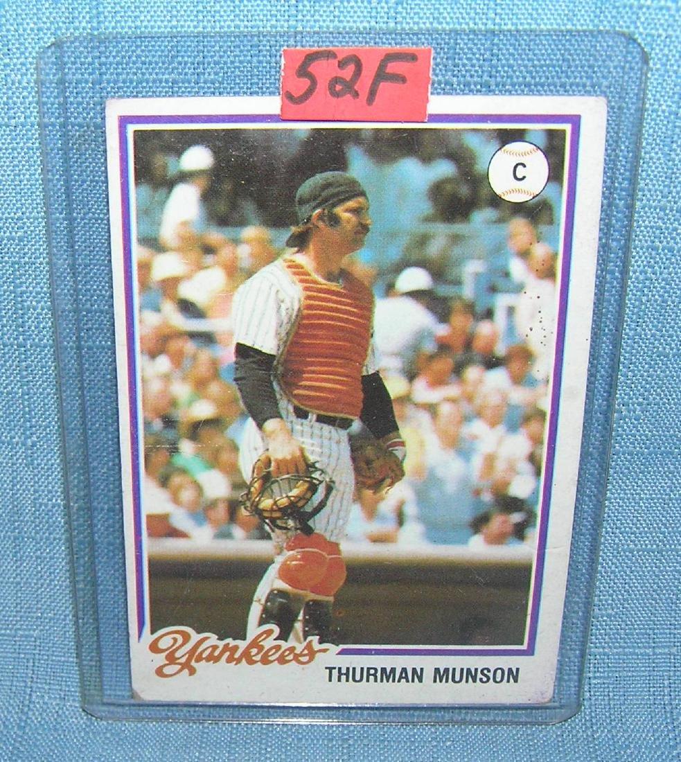 Vintage Thurmon Munson baseball card