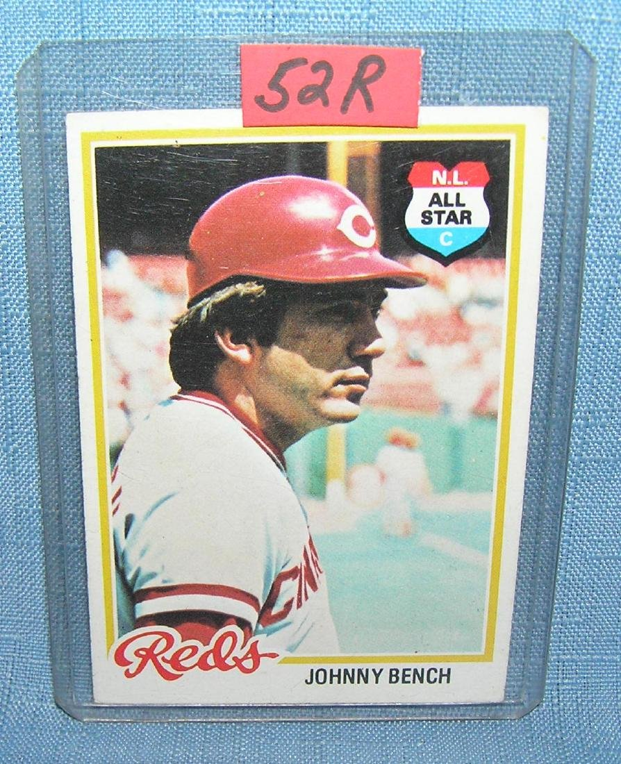 Vintage Johnny Bench all star baseball card