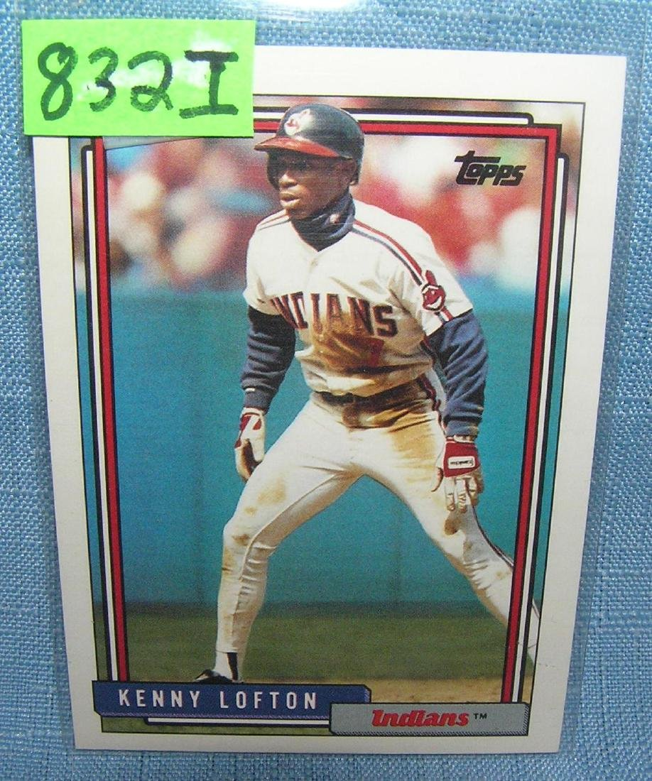 Kenny Lofton rookie baseball card