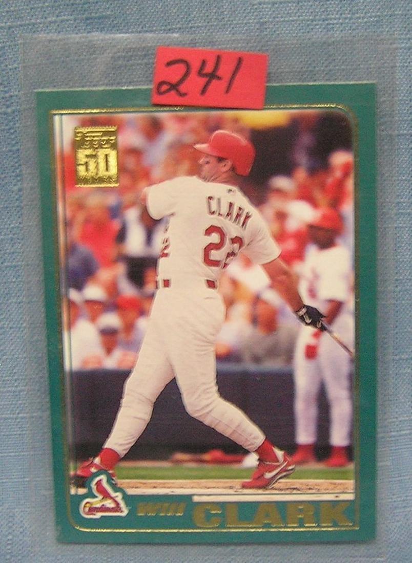 Vintage Will Clark baseball card