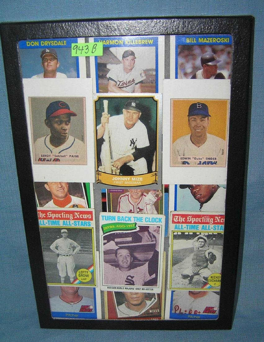 Collection of antique style retro baseball cards