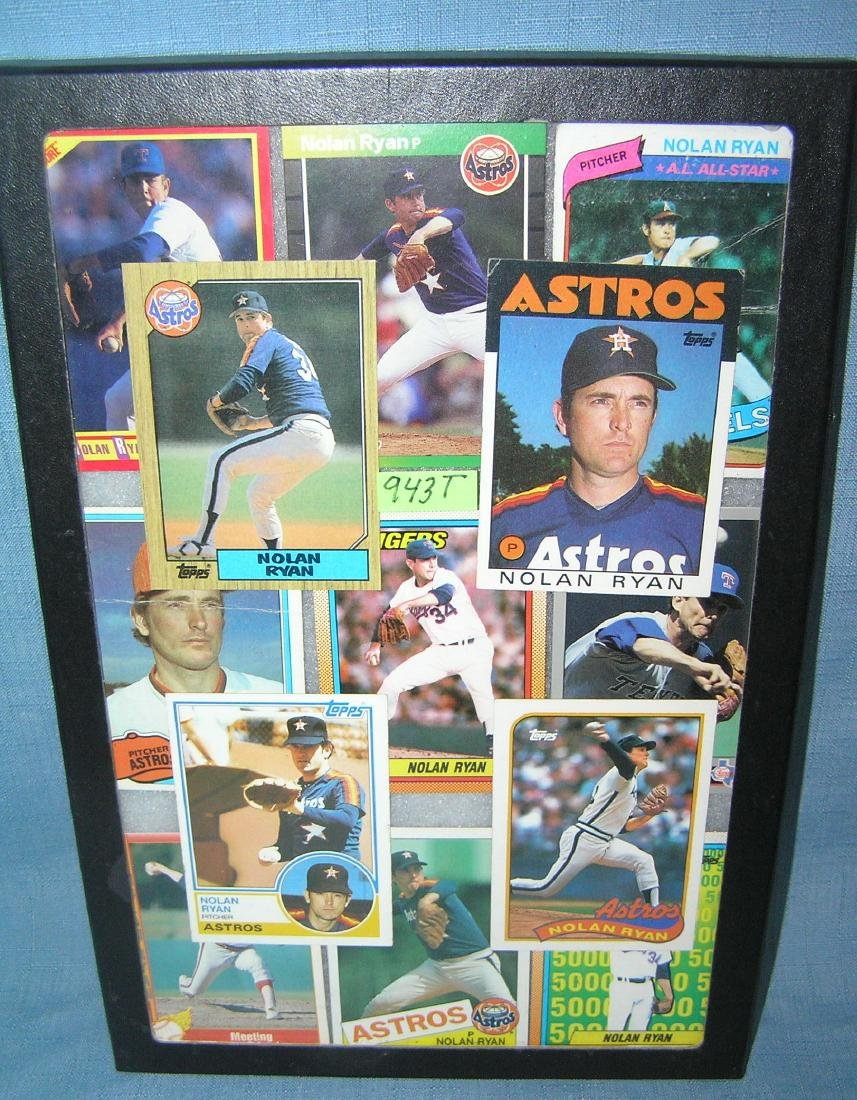 Collection of vintage Nolan Ryan all star baseball