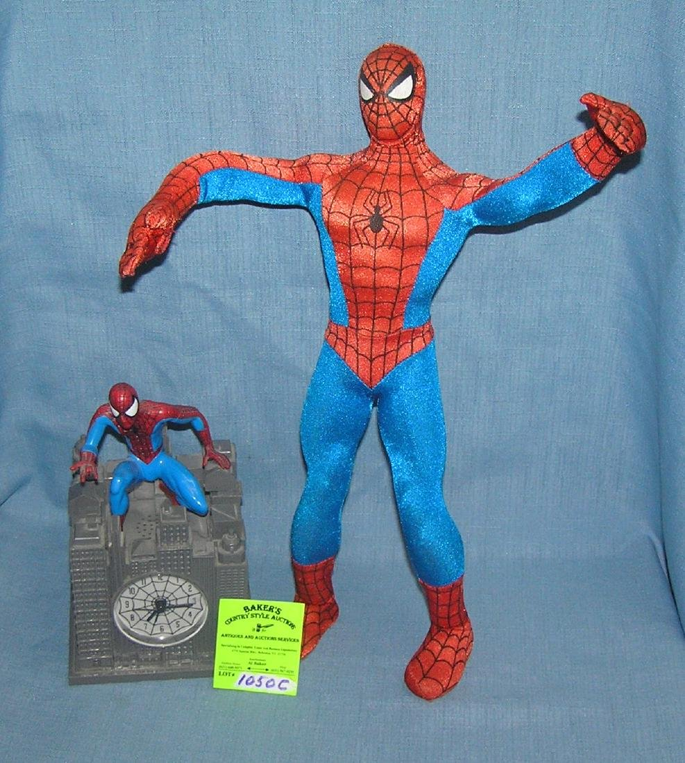 Pair of Spiderman figural toys