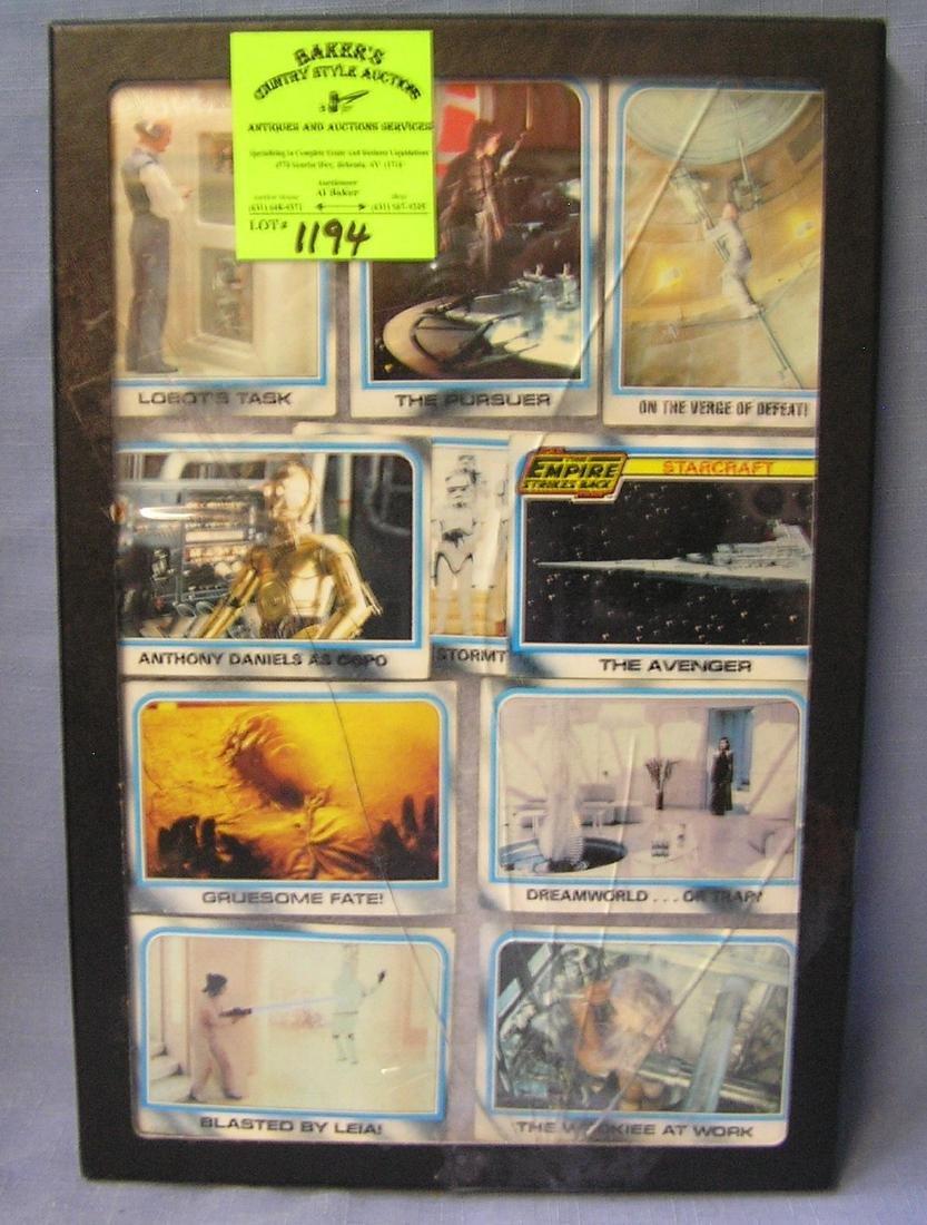 Group of vintage Star Wars cards