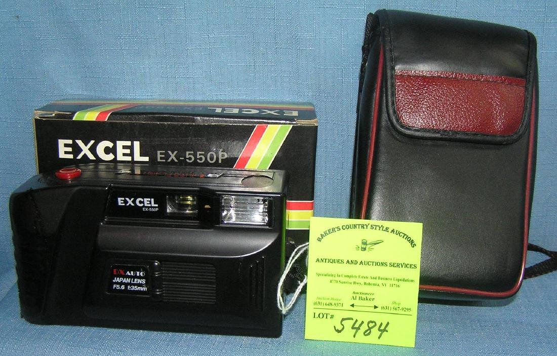 Excell EX550P 35MM camera with box and case