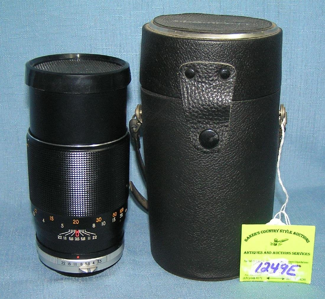 Vintage telephoto zoom lens 200MM