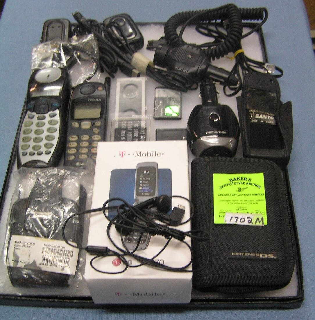 Group of cell phone accessories