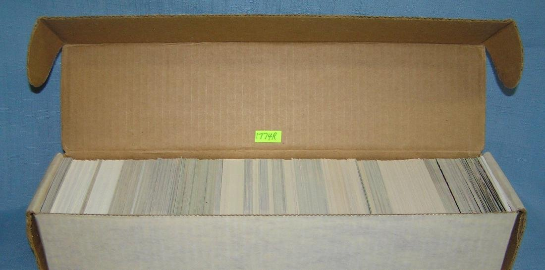 Box full of mixed sports cards