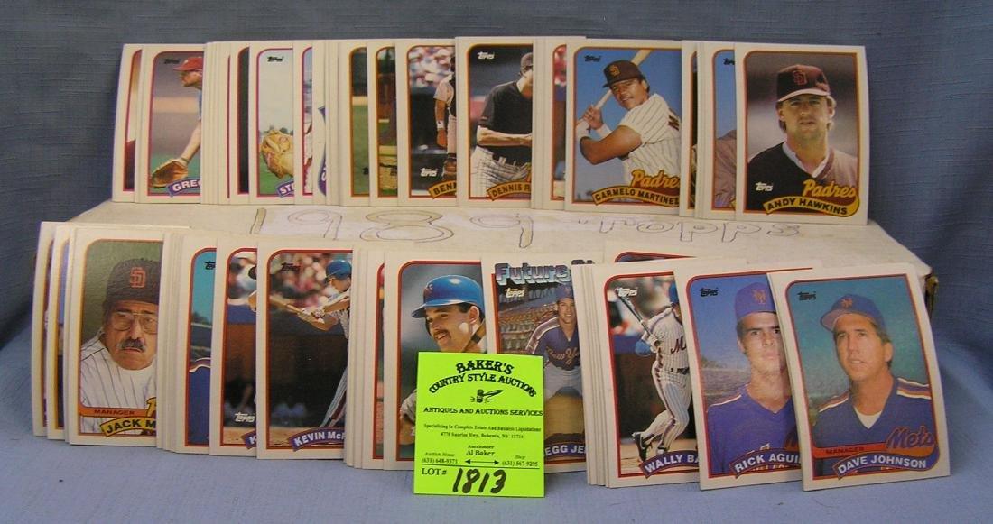 1989 Topps baseball card set