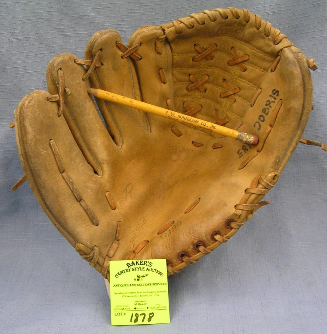 Vintage Reggie Jackson leather baseball glove