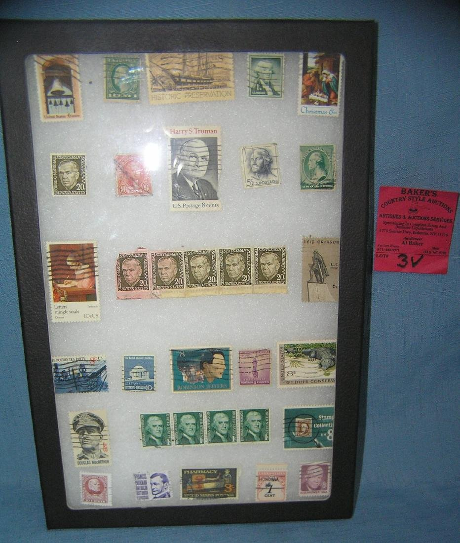 Collection of early US postage stamps