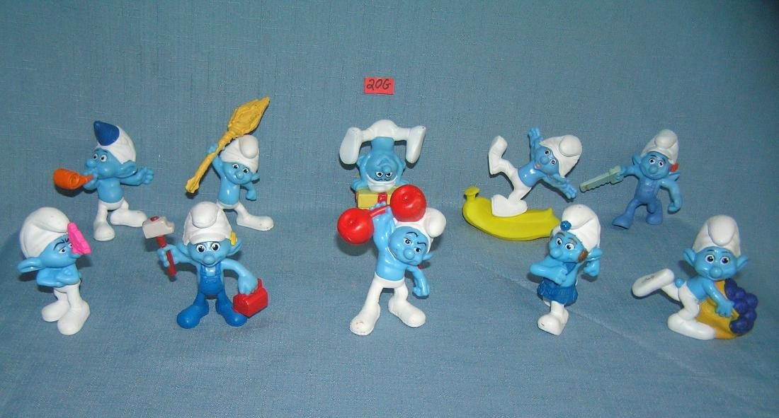 Collection of Smurf figurines