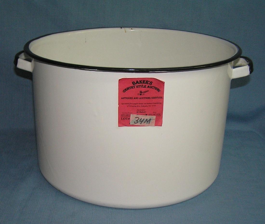 Large enameled metal pot