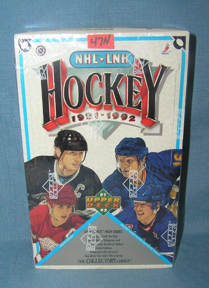 NHL hockey by Upper Deck factory sealed box of cards