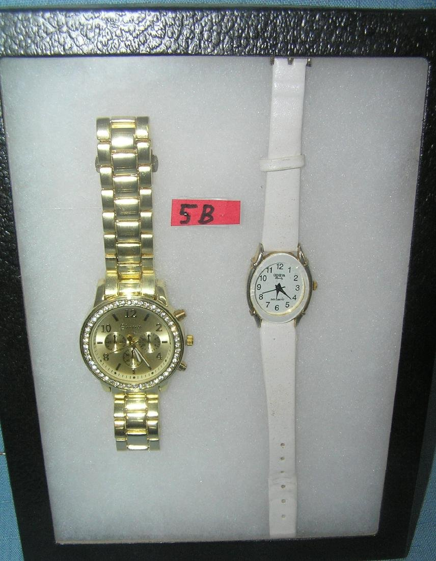 Pair of quality men's and ladies wrist watches