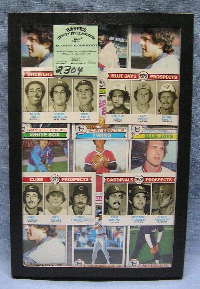 Vintage baseball cards including rookies