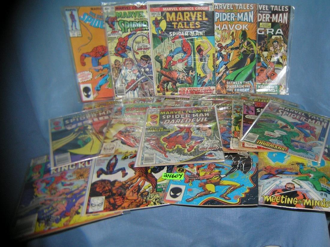 Large group of vintage Spiderman comic books