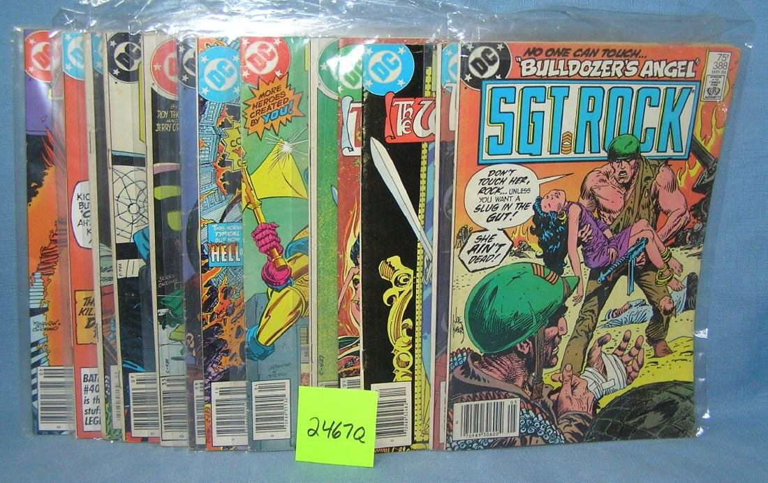 Group of vintage DC comic books